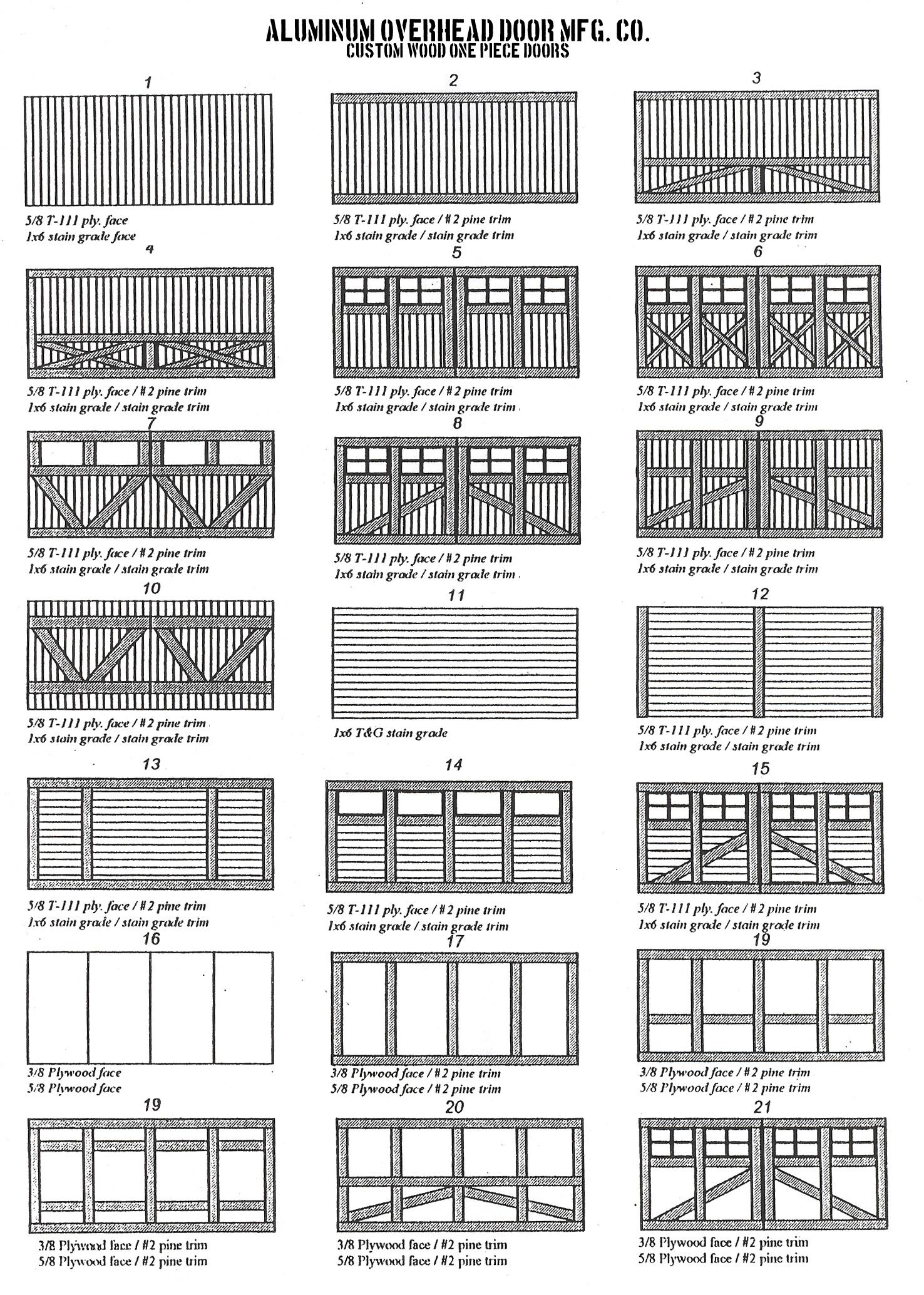 Custom wood garage doors aluminum door screen co wood door designs rubansaba